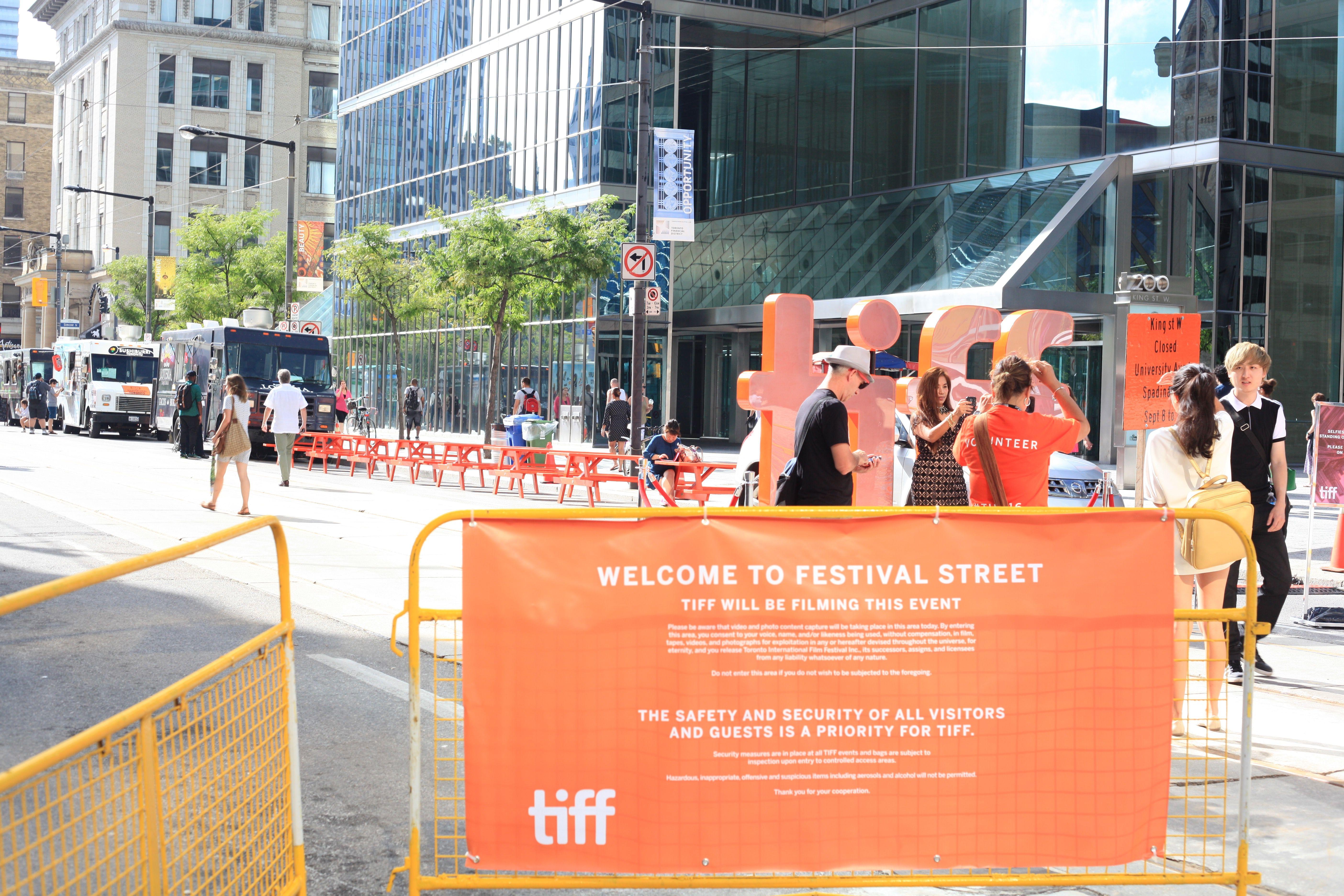 Toronto International Film Festival street