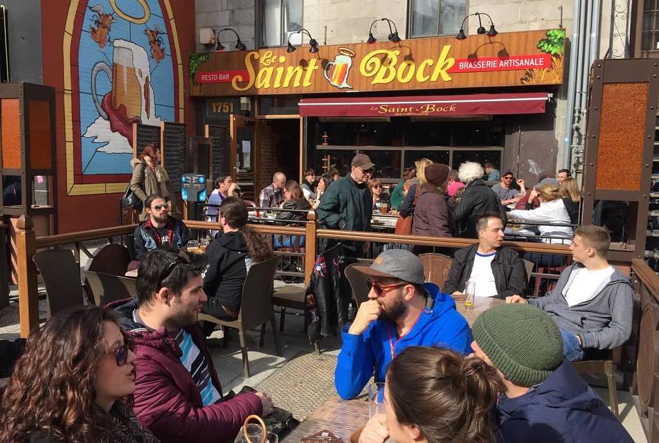 Montreal's hottest brewpubs include Le Saint-Bock.