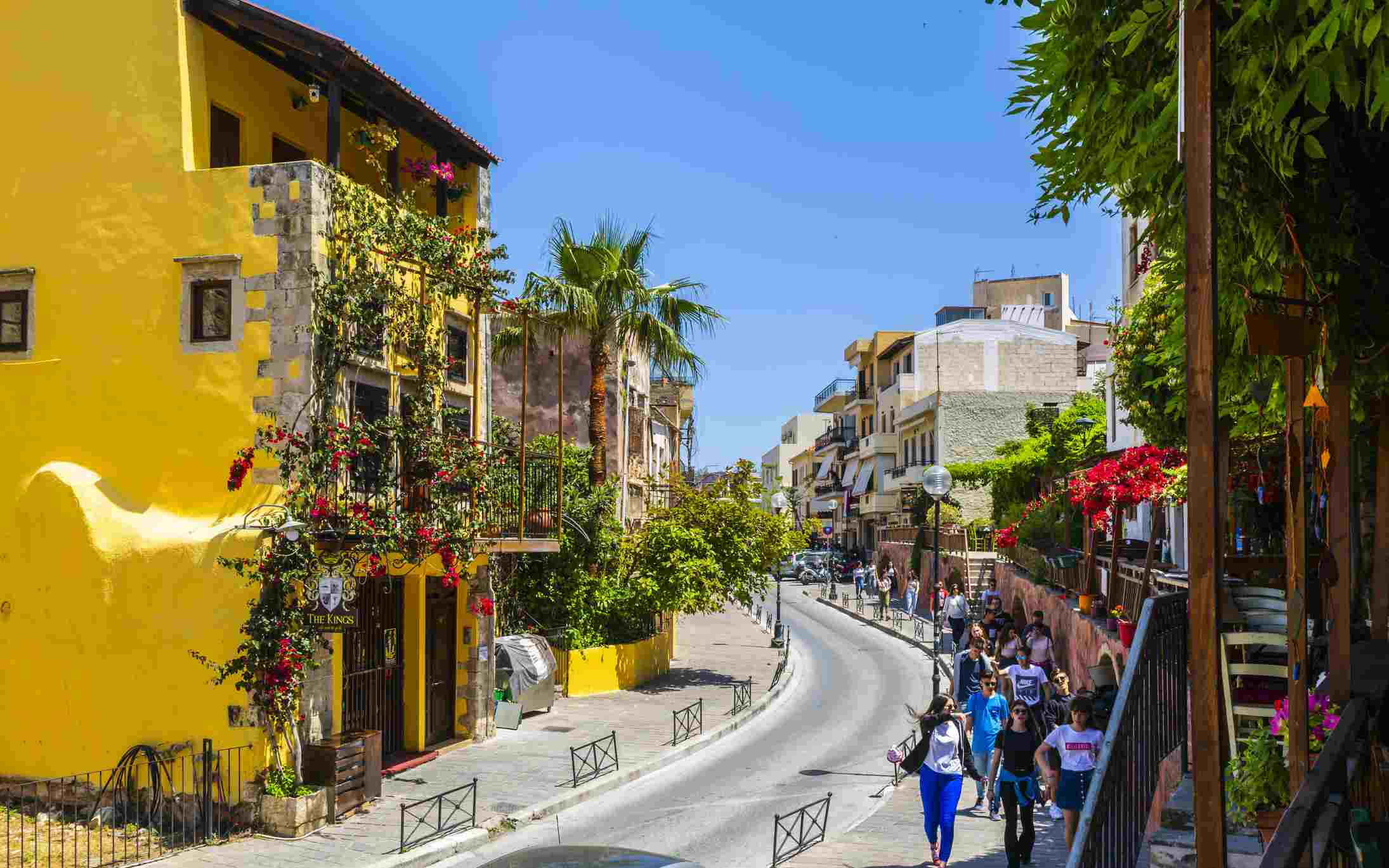 Colorful homes and Venetian architecture are features of Chania on Crete