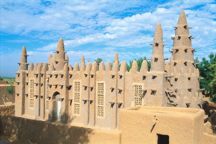 Mosque in Bozo, Mopti Region, Mali