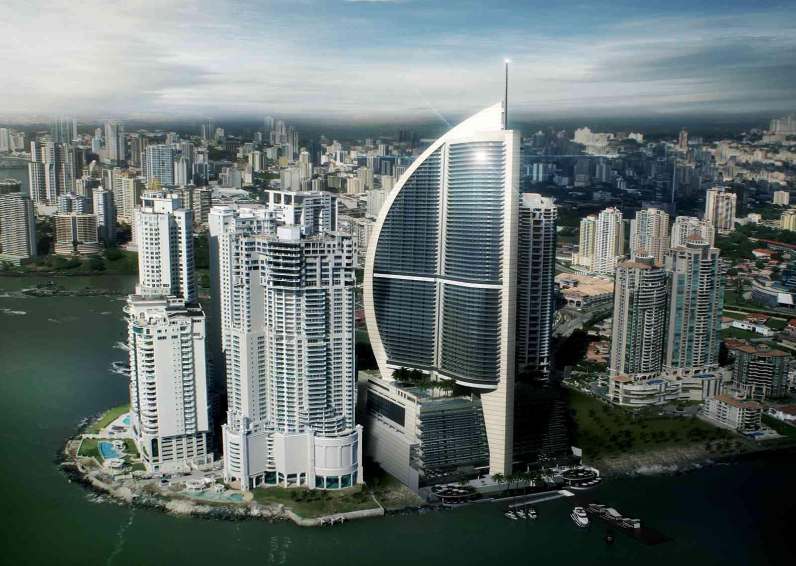 Aerial view of Trump Hotel Panama