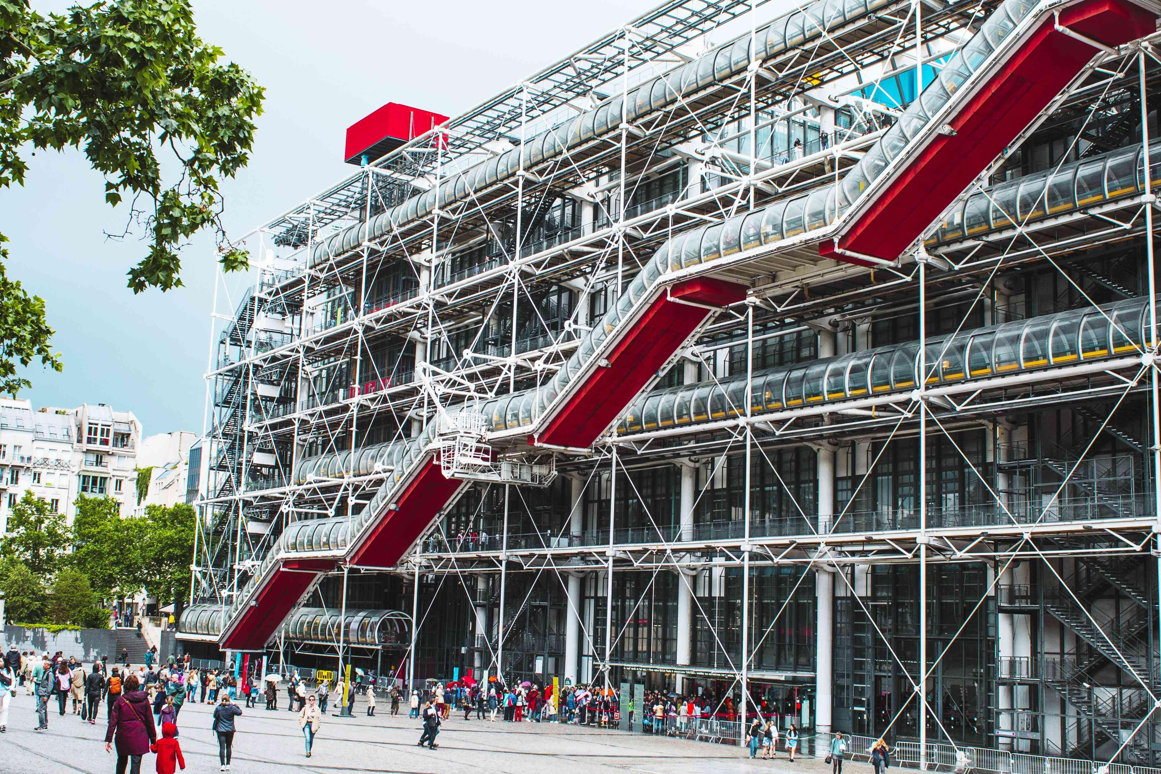 Exterior of Centre Pompidou