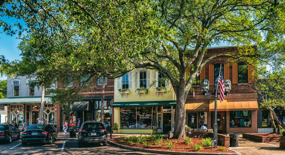 Quaint downtown in Fernandina Beach, Florida.