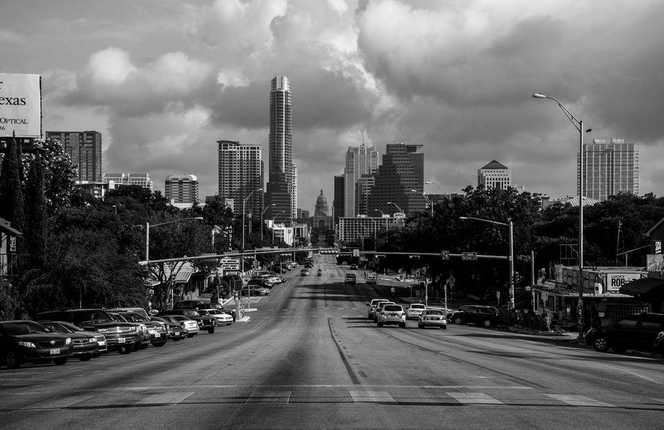 Austin, Texas SOCO black and white central texas