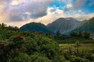 Tropical landscape of Kauai Island, Hawaii