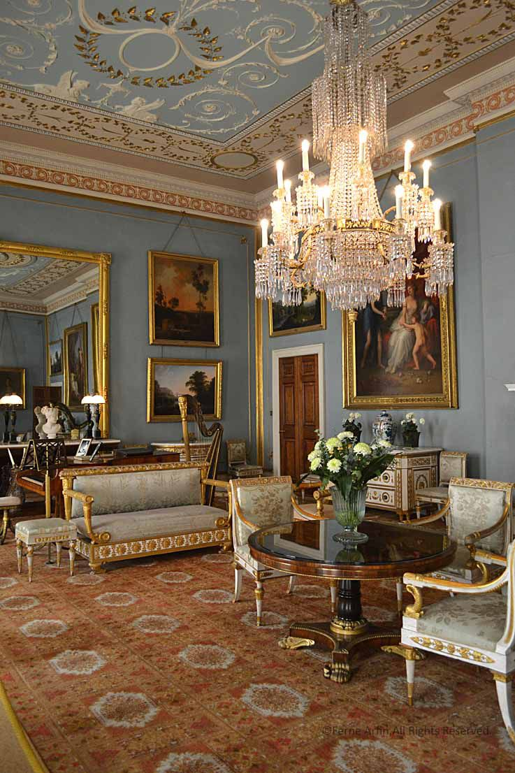 Old English Drawing Room: An English Country House And Deer