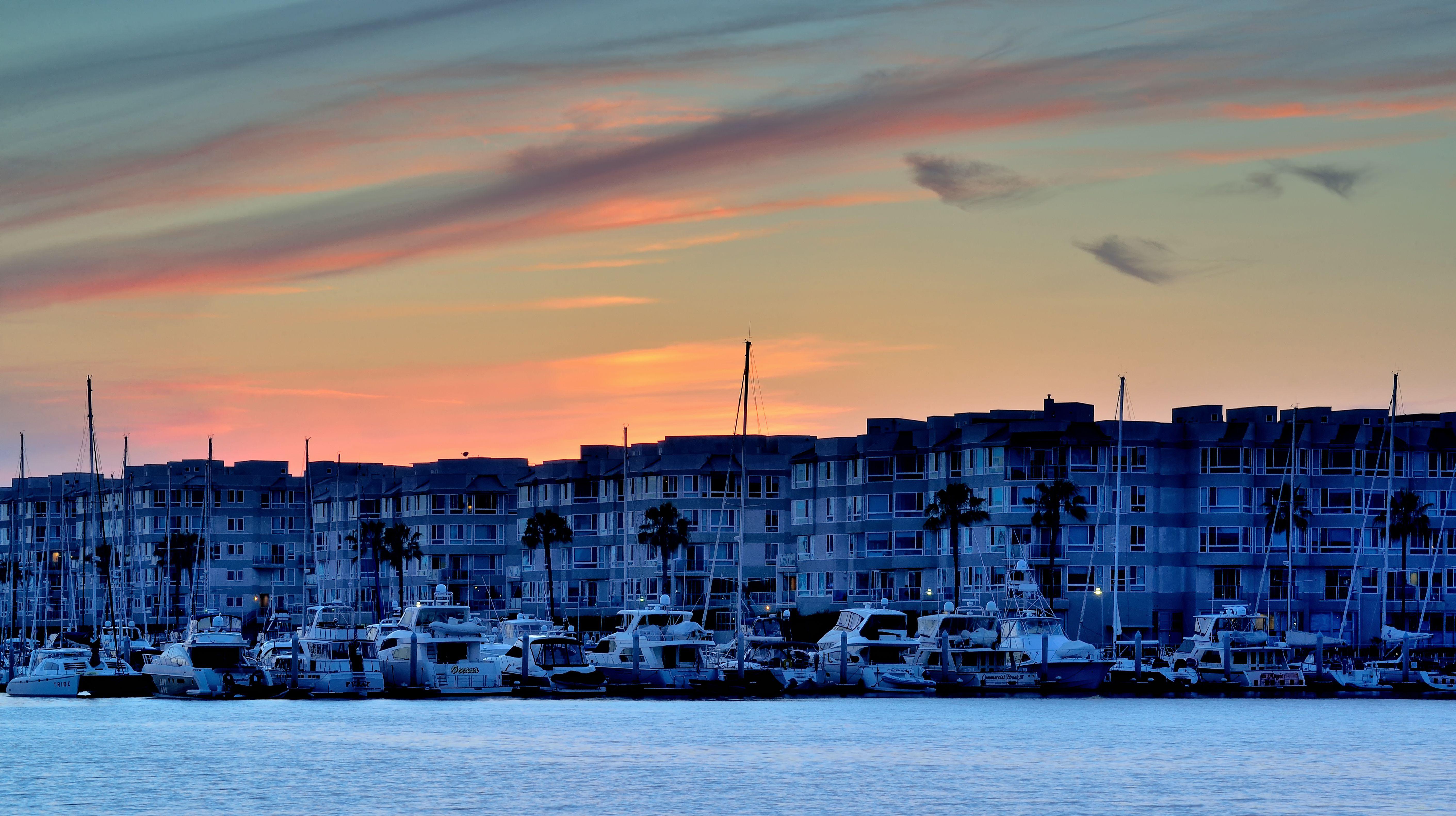 Marina Del Rey al atardecer, Los Ángeles, Estados Unidos