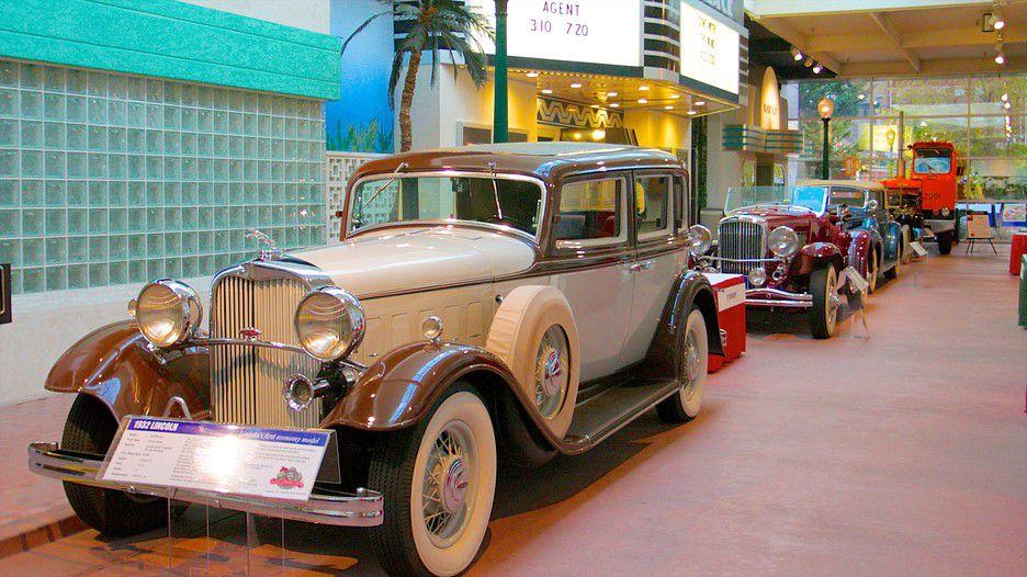 Vintage car on display in a museum