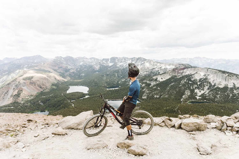 Mountain Biker near Lake Tahoe