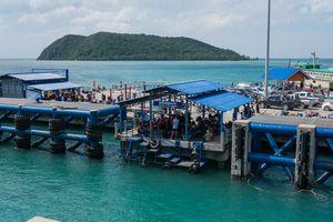 Port of Koh Phangan locate at Thong Sala