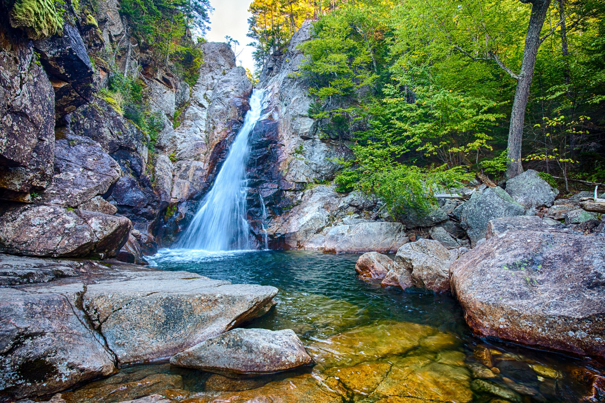 Glen Ellis falls at Pinkham Notch New Hampshire