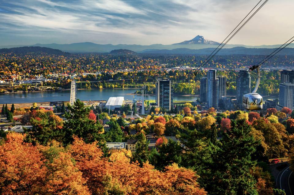 Vista aérea de Portland