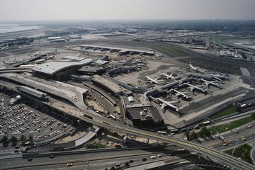 Aerial view of John F. Kennedy International Airport