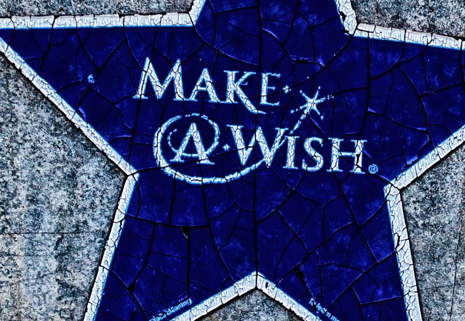 A Make-A-Wish sign.