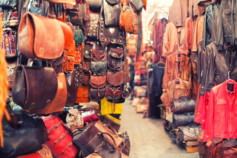 Souvenir Shop in the Souk Market, Marrakech, Morocco