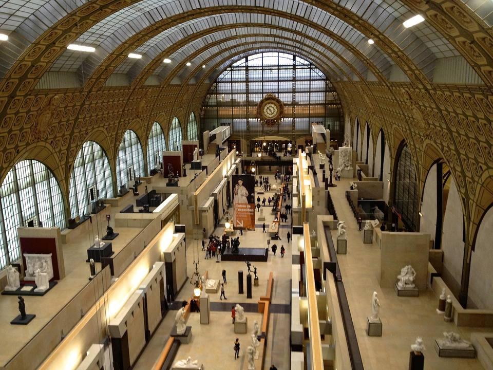 """Musee D""""Orsay Interior, Musee D'Orsay, Paris, France"""