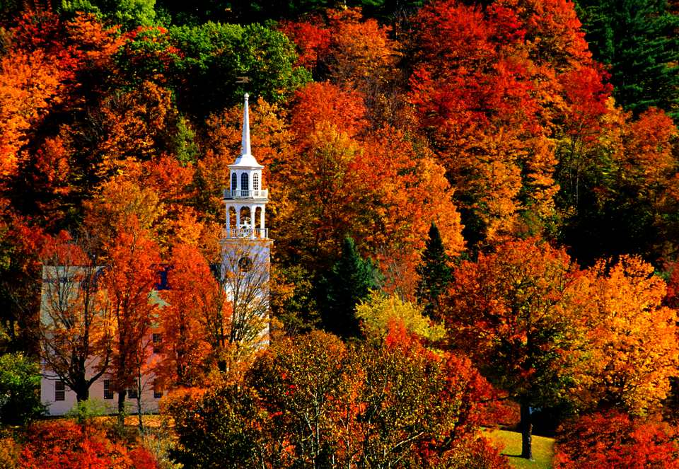 Peak Fall Foliage in New England