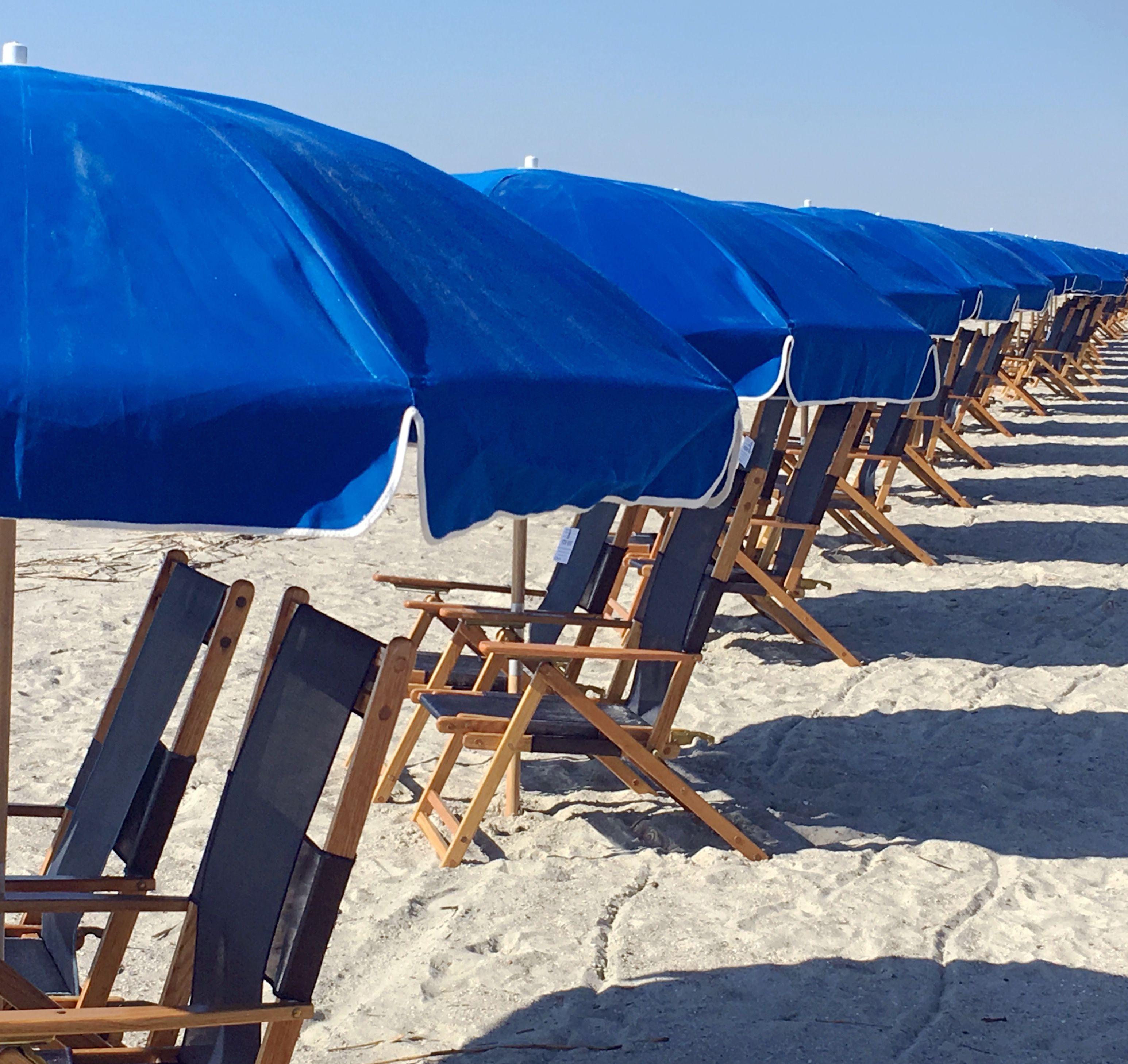 Hilton Head Island Beach, umbrellas and chairs