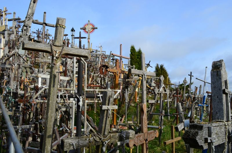 The massive collection of crosses is how the Hill of Crosses earned its name