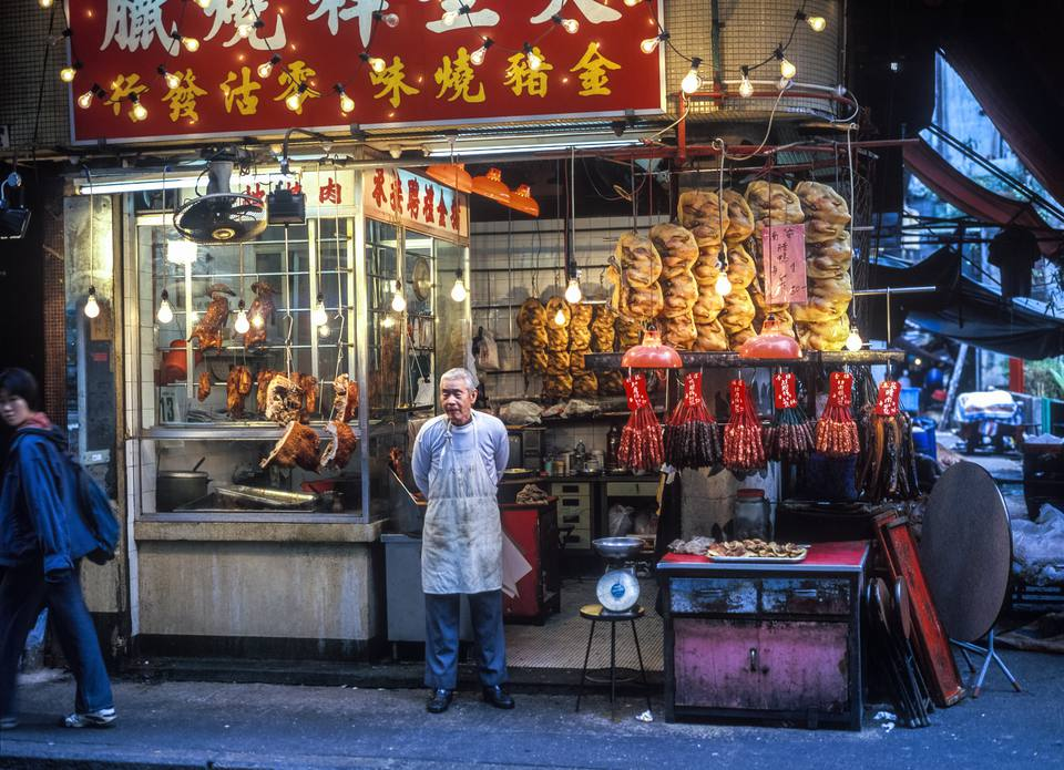 Poultry stand in Kowloon, Hong Kong