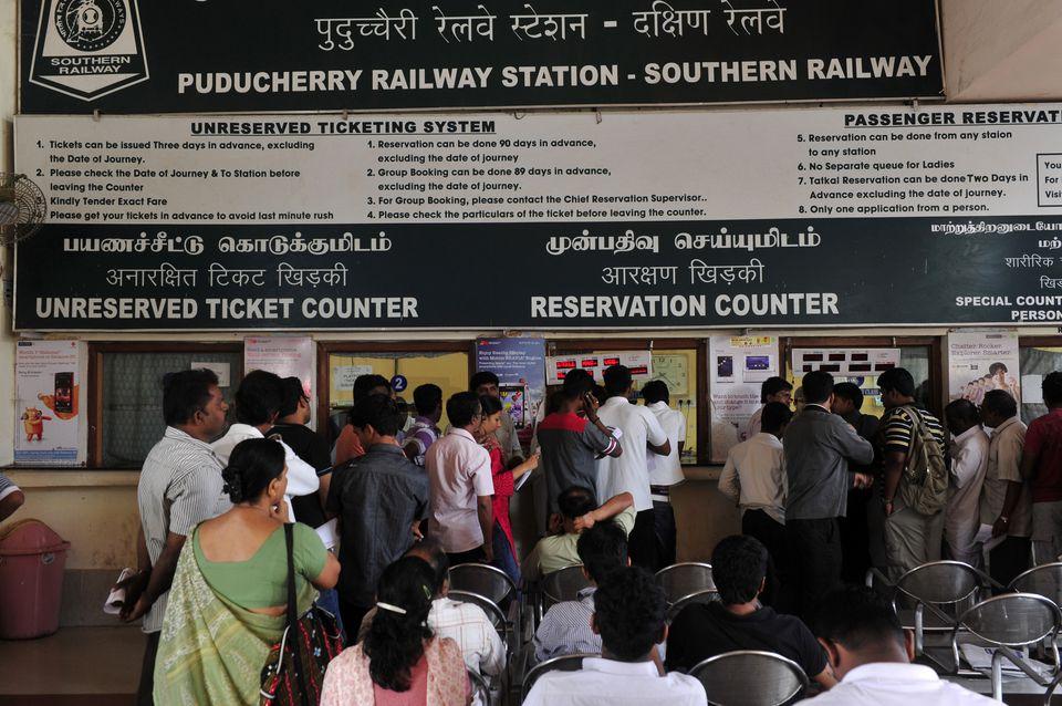Pondicherry railway station.
