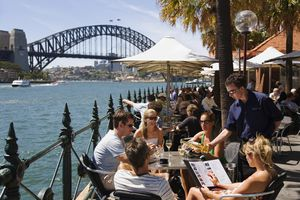Waterfront dining at Circular Quay with views over Sydney harbour
