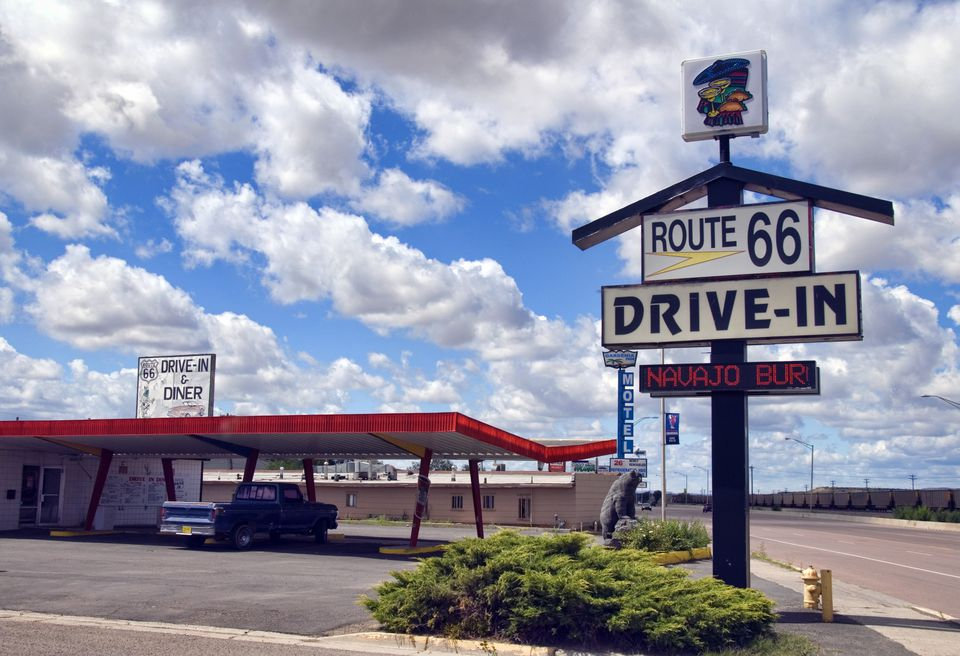 Drive in on Route 66
