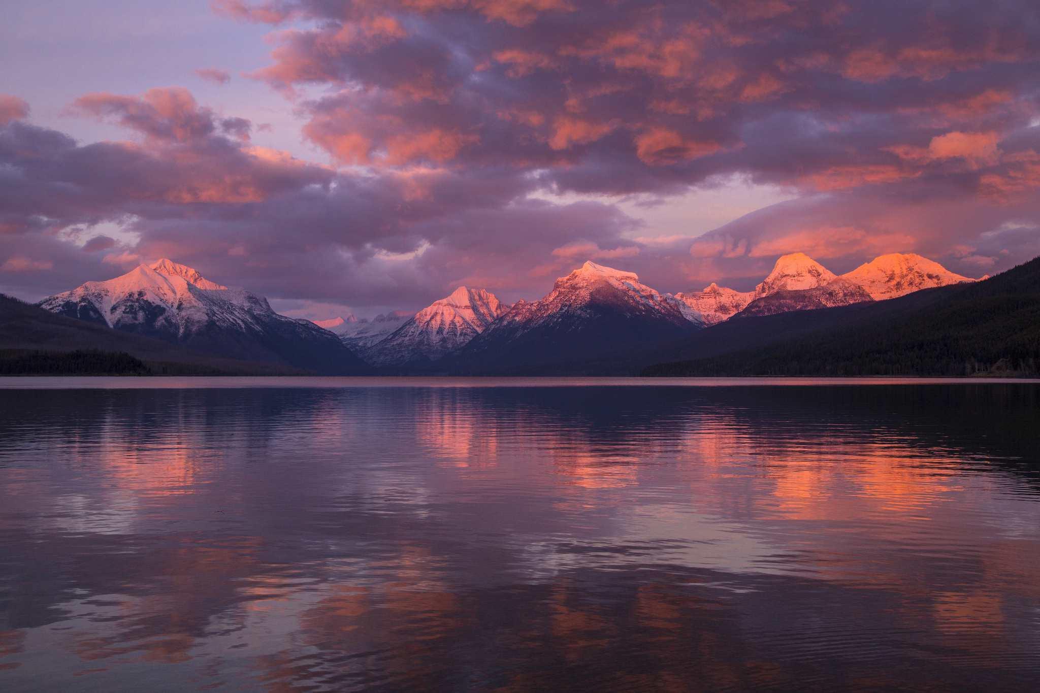 Lago McDonald Sunset, Parque Nacional Glacier