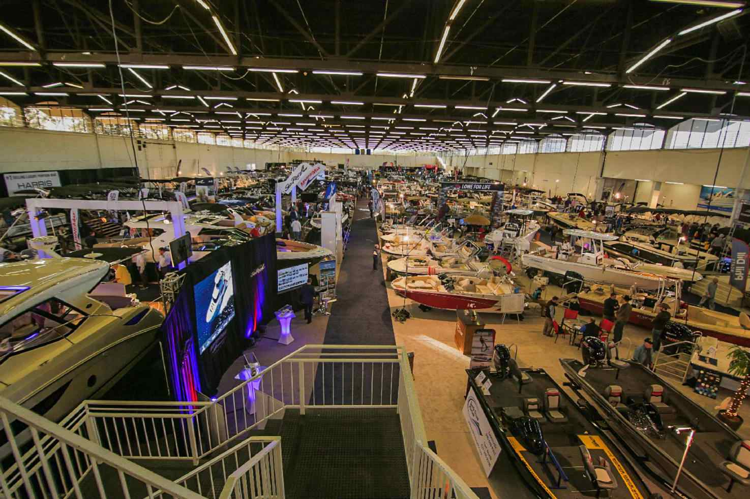 Large hall used to display boats during the DFW boat show