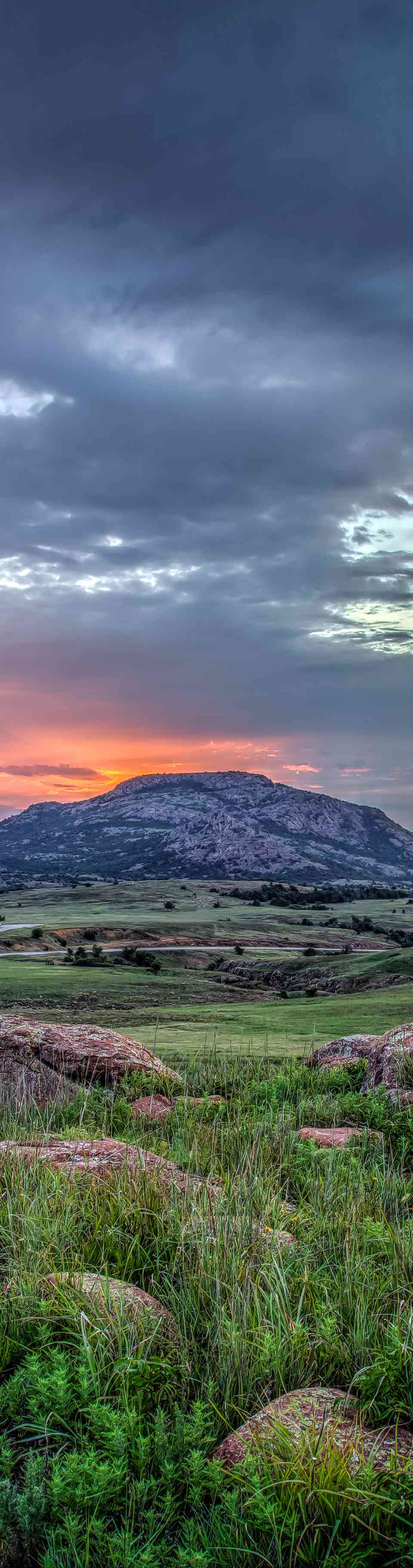 Sunrise over Mt. Scott, Oklahoma, USA