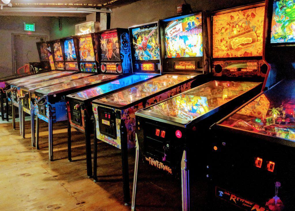 pinball machines at Emporium SF