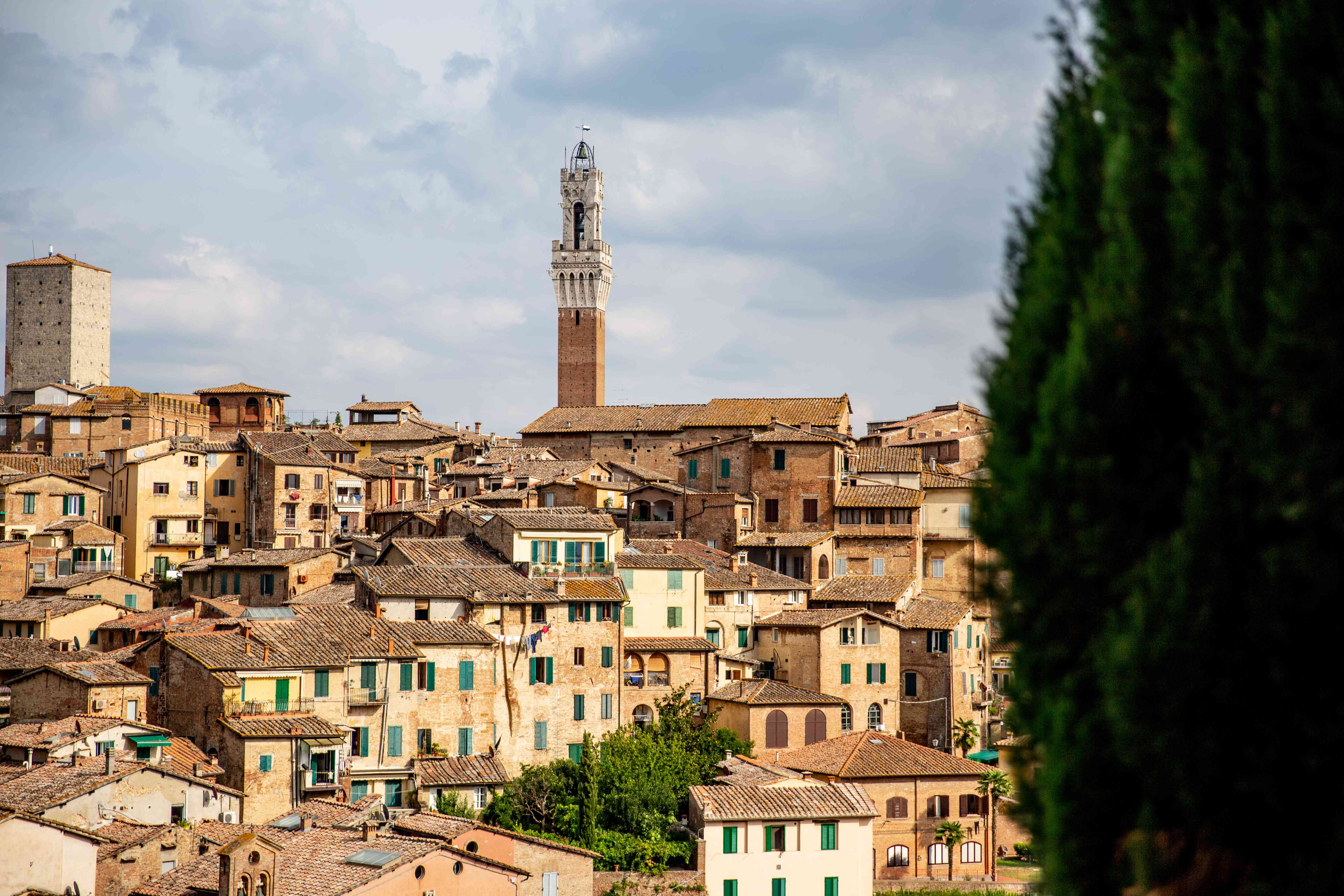 View of Siena from afar
