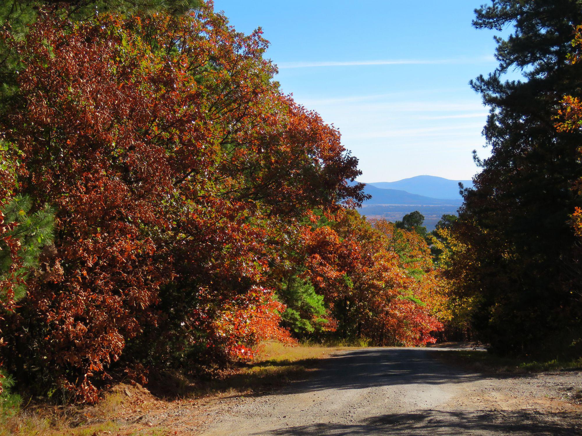 Oklahoma mountain scenery in autumn