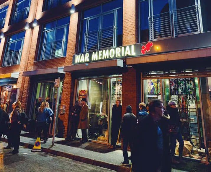 exterior war memorial in Belfast