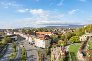 High Angle Shot Of Townscape Against Sky in Kassel, Germany
