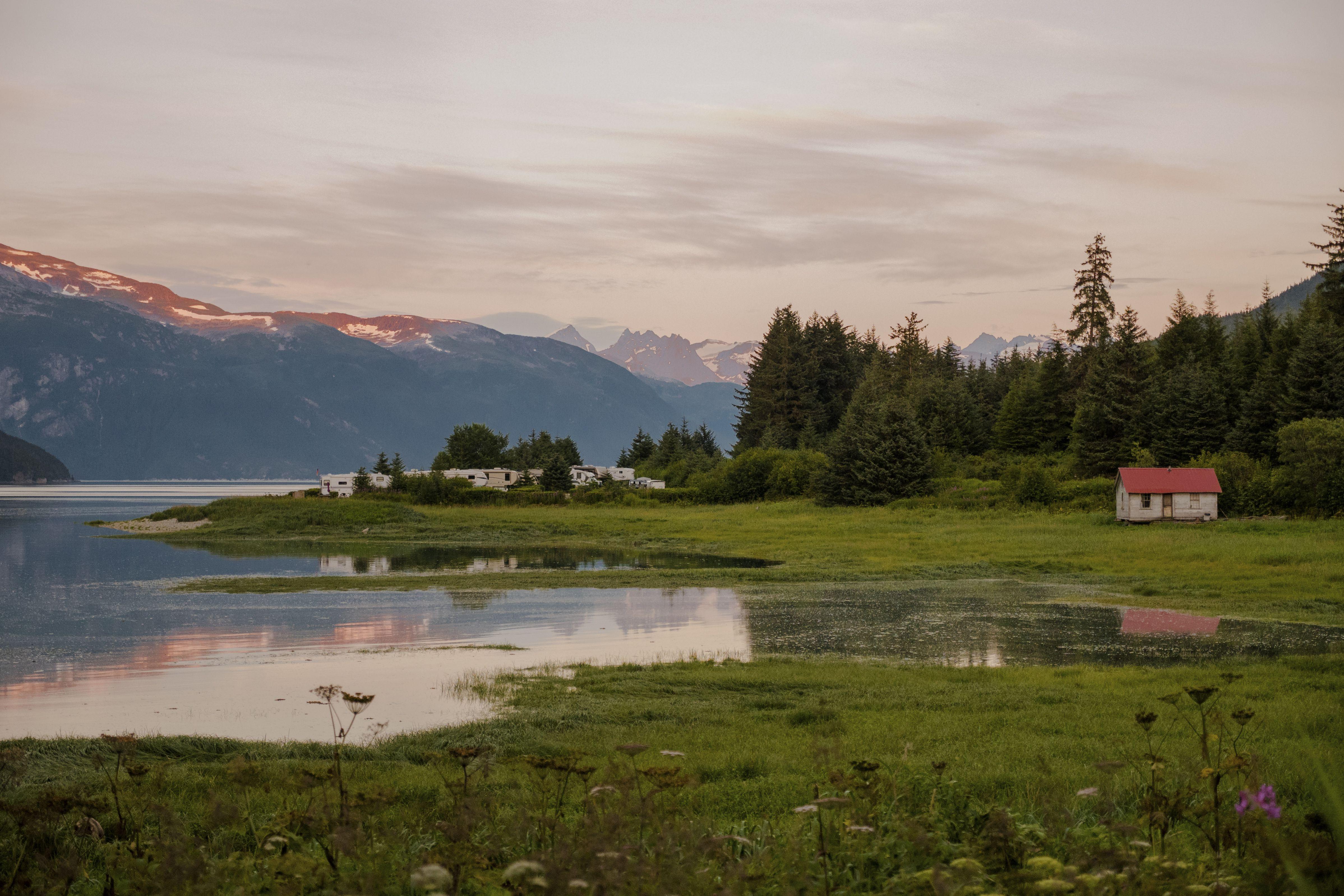 RV camping in Haines, Alaska