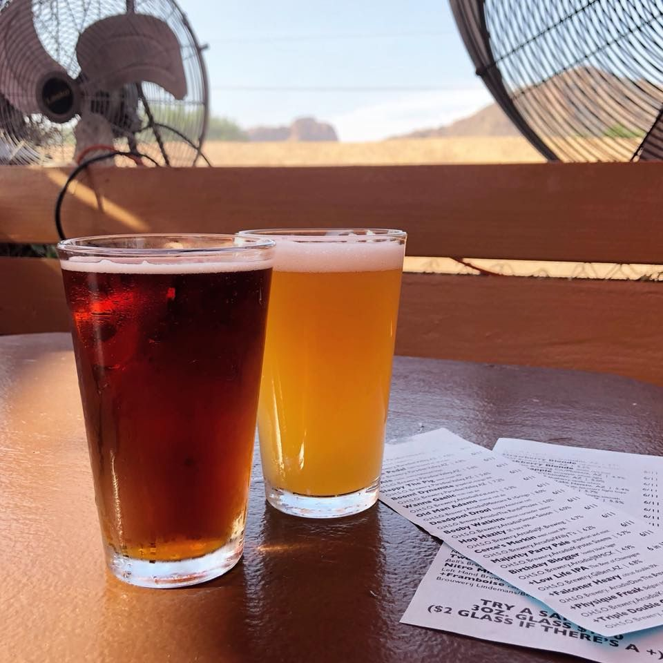 Two beers at OHSO Eatery & nano-brewery