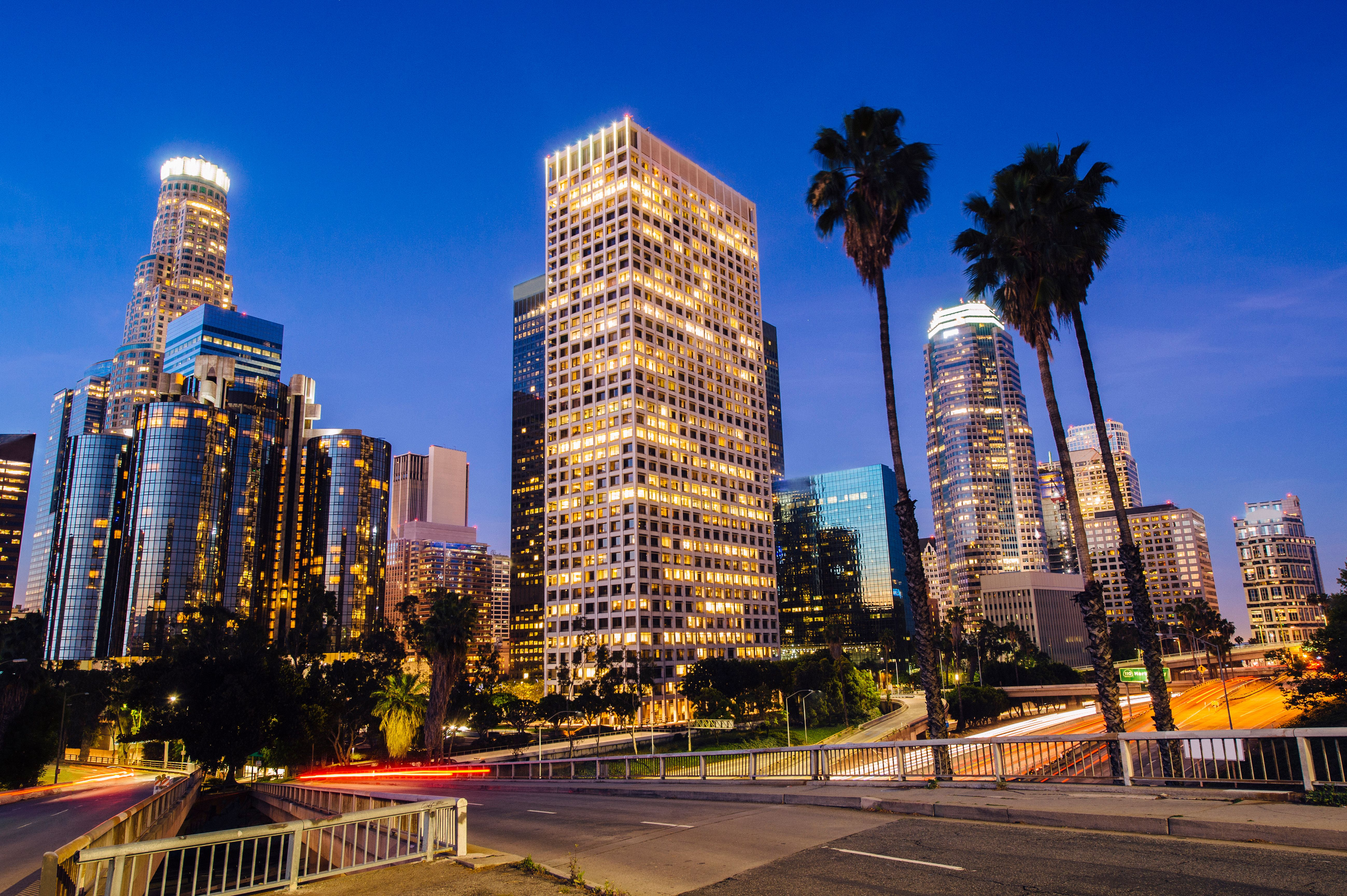 los angeles california skyline photo gallery