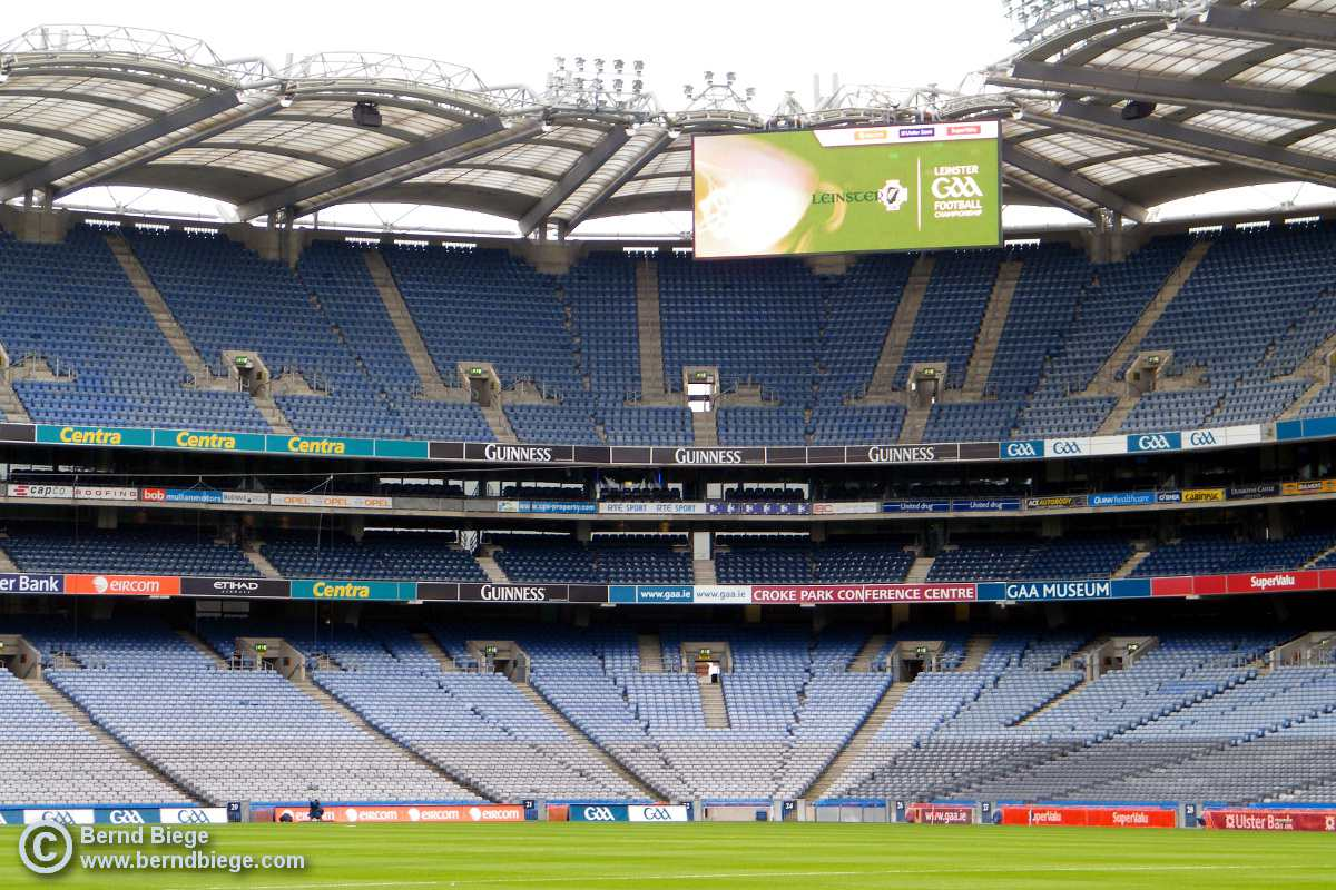 Croke Park before the crowds arrive ... impressive nonetheless.