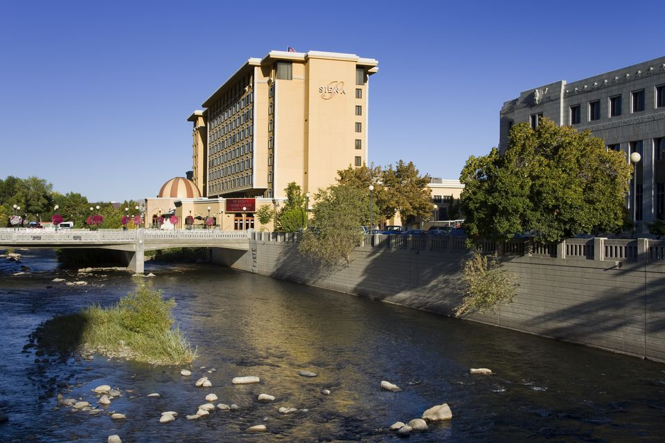 Siena Hotel on Truckee River in Riverwalk District.