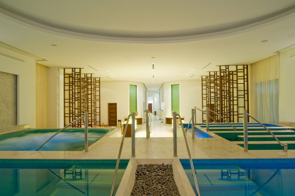 Hydrotherapy spa with a number of different types of pools