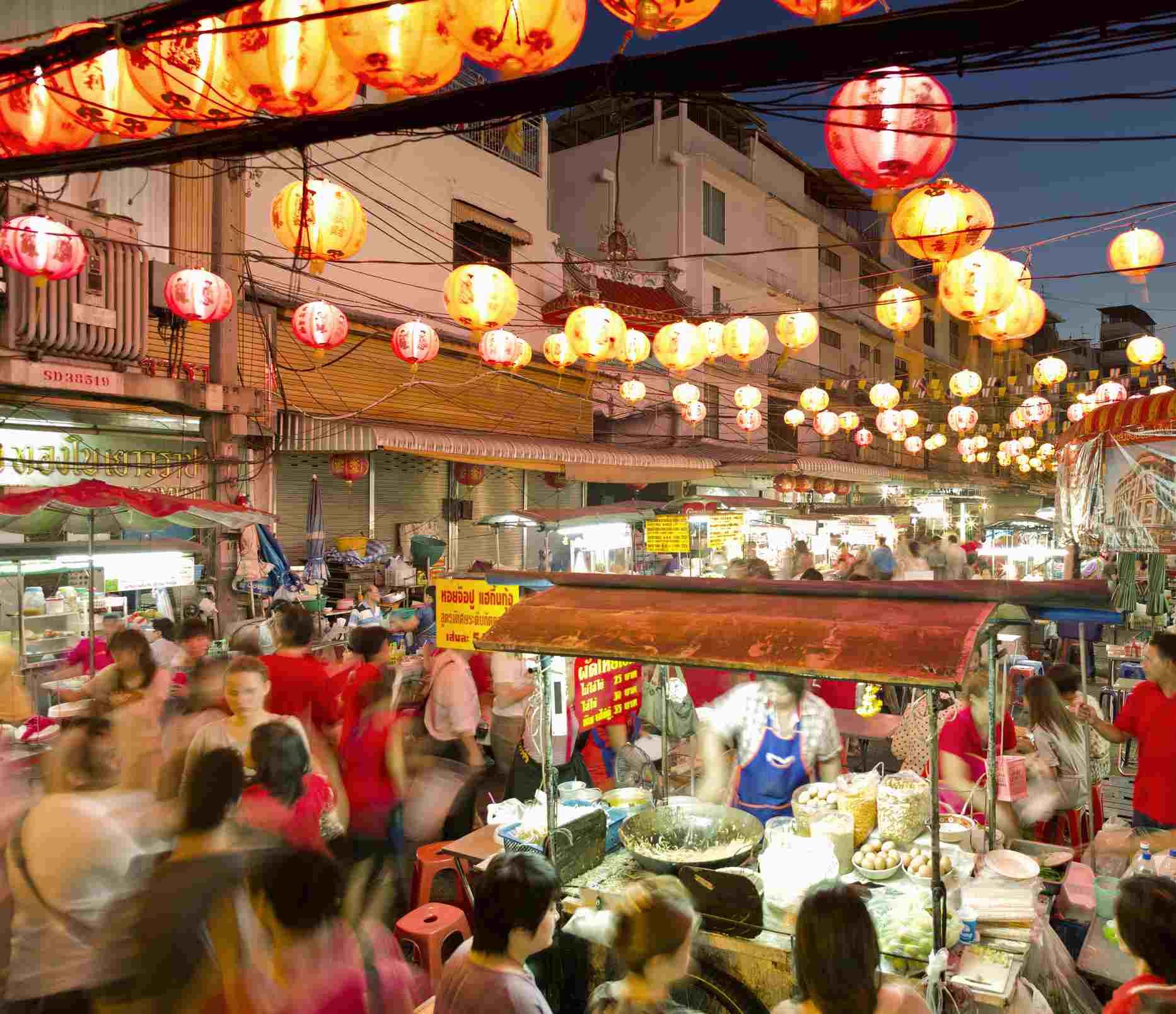 Bangkok, Chinatown during Chinese New Year
