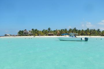 Boat Anchored off Playa Norte on Isla Mujeres