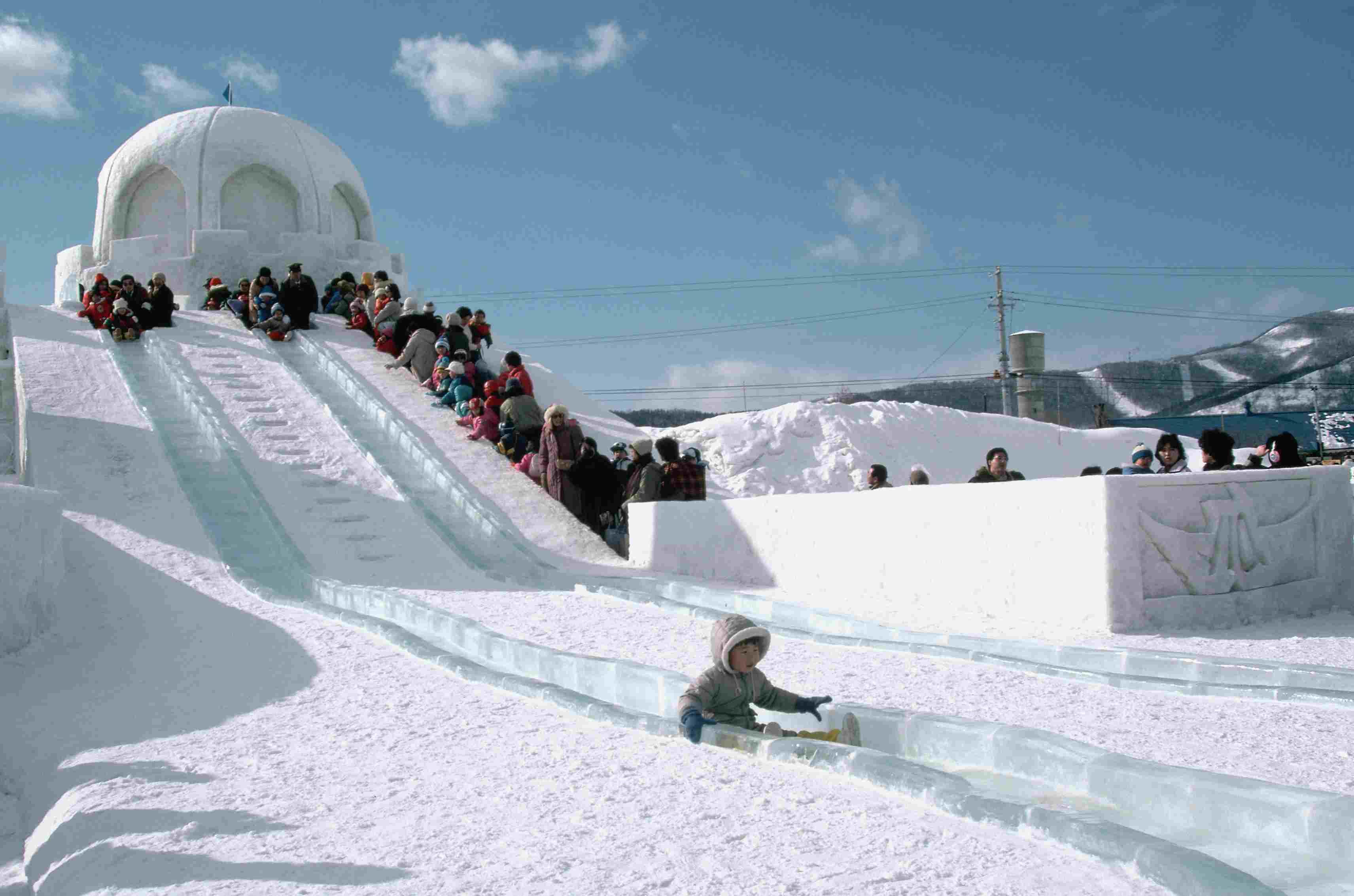 Slide of Ice at Yuki Matsuri Snow Festival