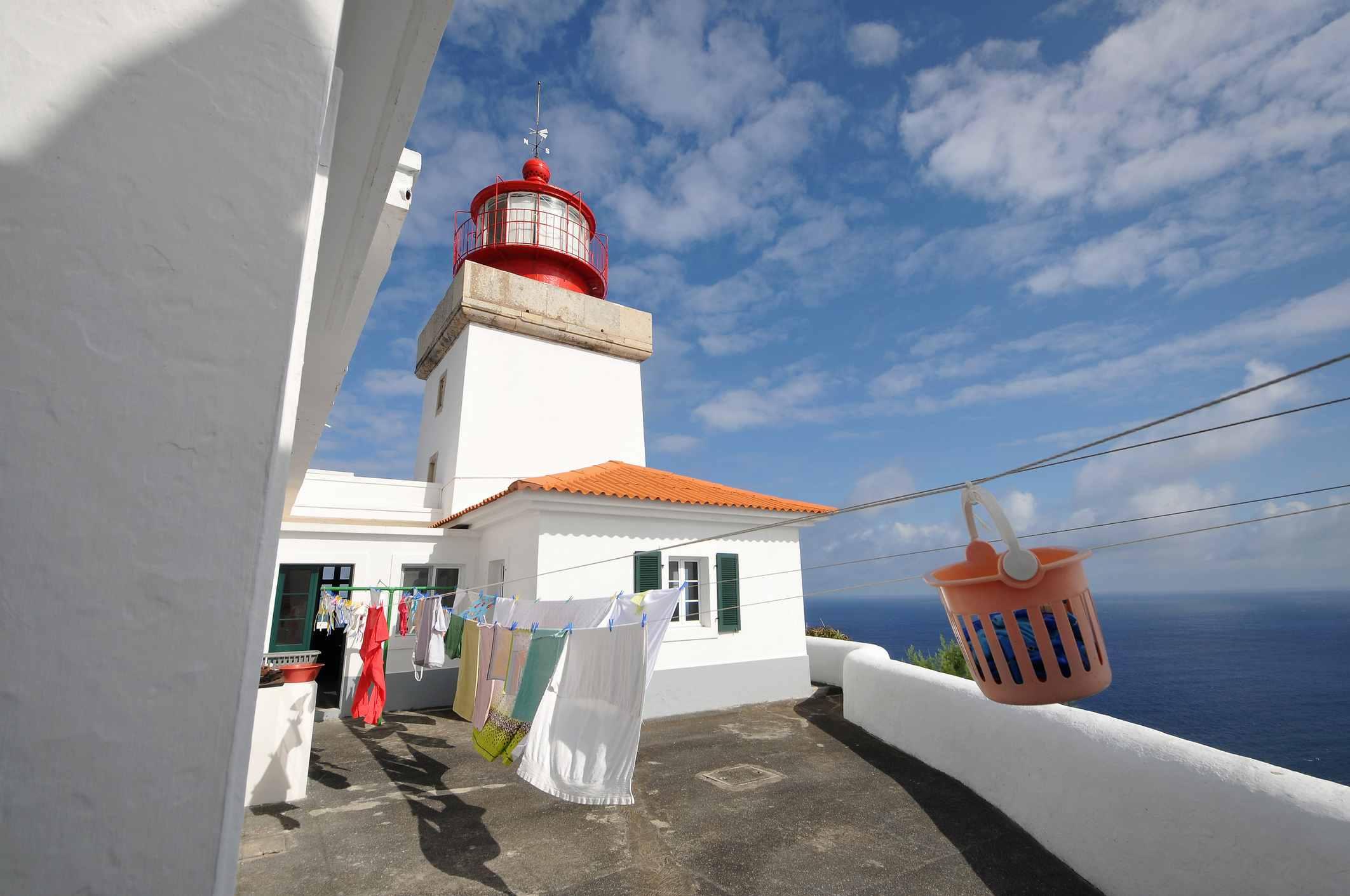 Maia lighthouse, Island of Santa Maria, Azores, Portugal