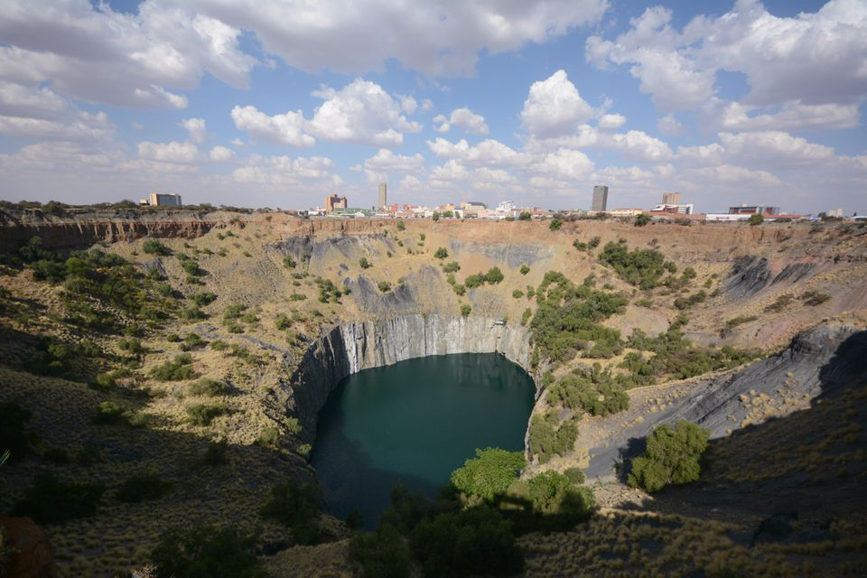 The Big Hole and the surrounding landscape