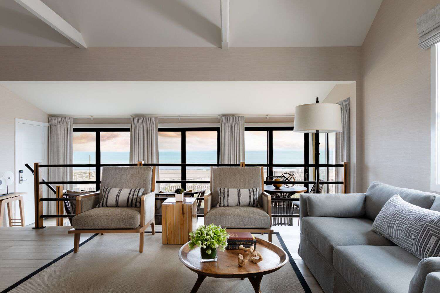 Cottage living room with ocean view at Gurney's Montauk Seawater Resort & Spa