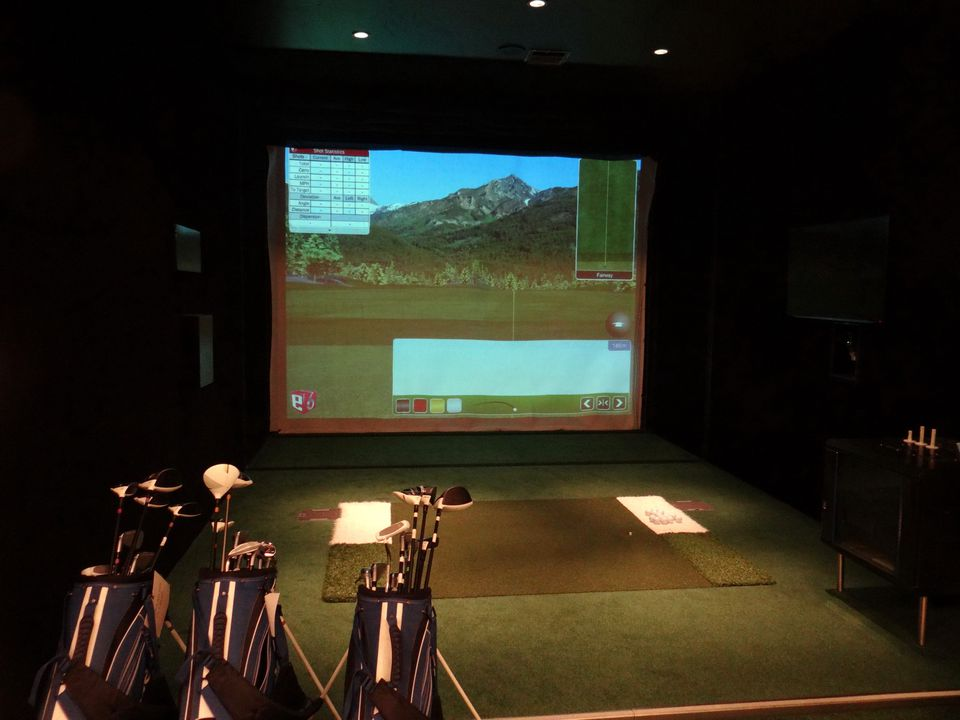 Golf simulator on the Europa 2 cruise ship