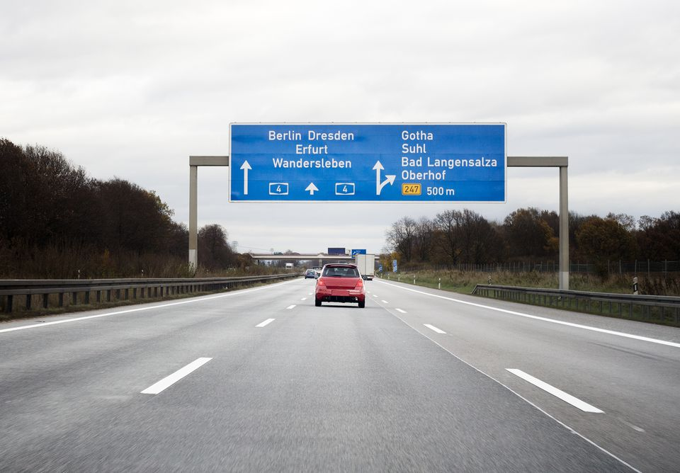 Autobahn in Germany toward Berlin