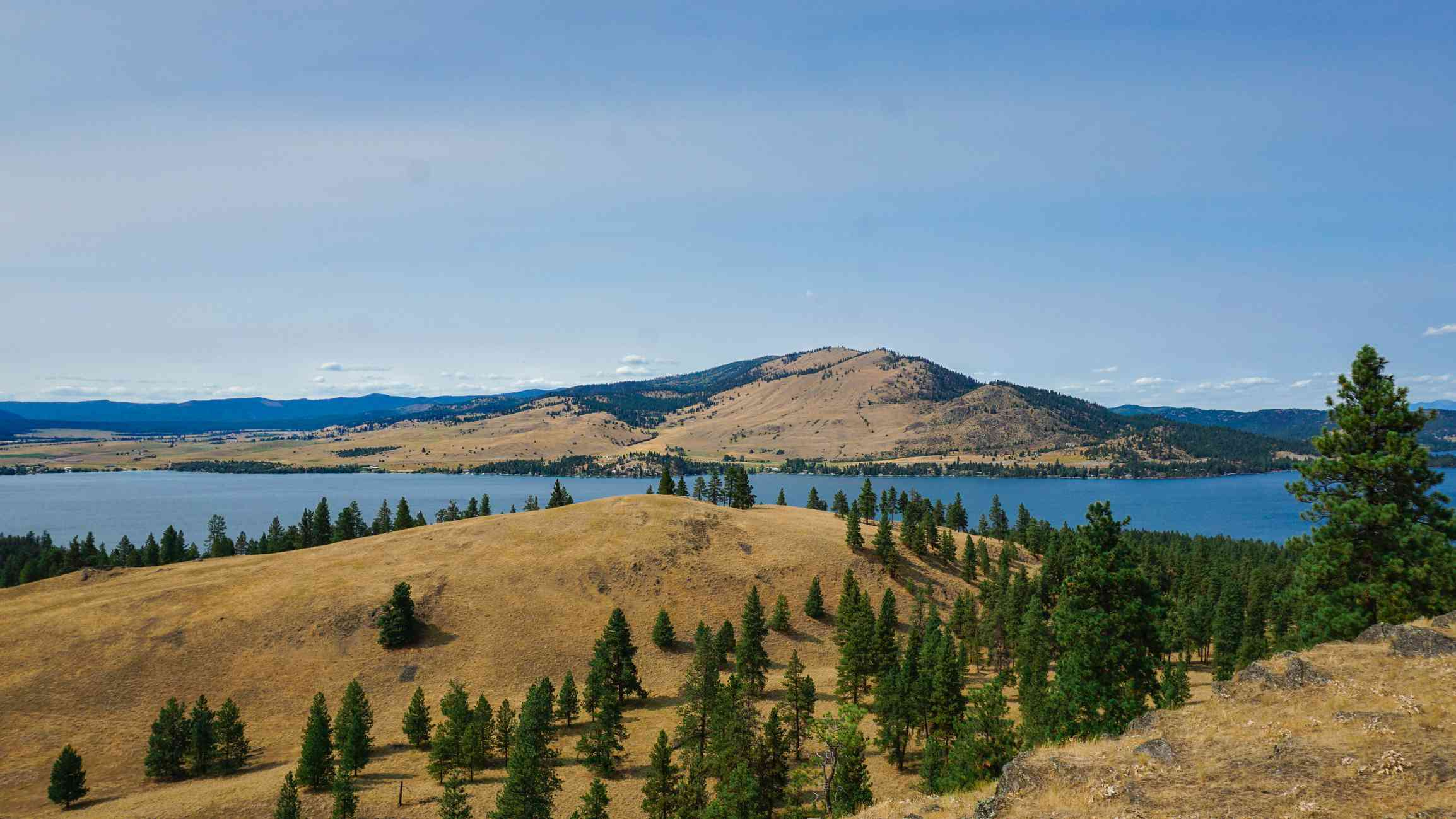 Aerial View of Wild Horse Island at the Flathead Lake in Montana
